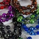 Bracelet & Earring Sets Metallic Ball W Solid Beads/DZ/dz **NEW** 6 Color Asst