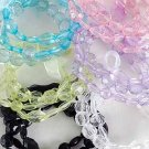 Bracelet 3pcs Lucite Crystals, Stretch/DZ ** New Arrival** 6Color Asst