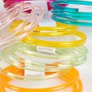 Bracelet 4pc Bangles Transparent Colors/DZ 7 Color Asst