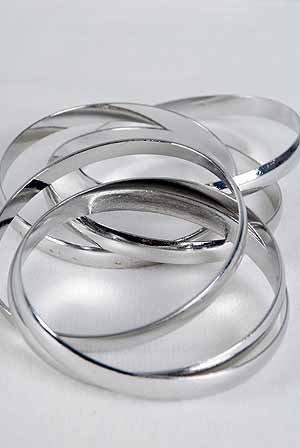 Bracelet Bangle Metal 3 Pcs Inertwine/DZ ** New Arrival**