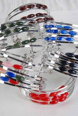 Bracelet Bangle Ovel Solid Marble Color Asst/DZ ** New Arrival** 6 Color Asst