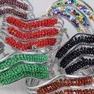 Bracelet Bangle V shape W Indian Beads color Asst/dz ** New Arrival** 6 Color Asst