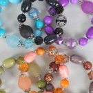 Bracelet Bead With Lucites ,6 Color Asst/DZ **NEW Arrival** Stretch