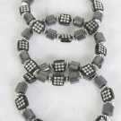 Bracelet Hematite Squar & Round shape Mix/Dz **Stretch** New Arrival