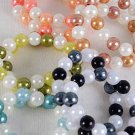 Bracelets 2String 14mm Pearls Color Asst,Stretch/DZ ** New** 6 Color Asst