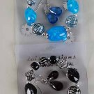 Bracelets& Earring Set Marble W Beads/DZ ***New Arrival***6 Color Asst,Stretch