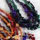 Necklace Set Lucite W Glitter Block & Neads 24''/DZ /dz **NEW** Winter Color Asst 24'',6 color asst