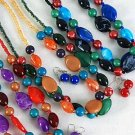 Necklace Set Silky Marble W Color Bead Asst 244''/DZ **NEW** Winter Sellection,6 Color Asst