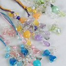 Necklace Sets Chain W Acrylic Beads W Heart Charms ** New Arrival** 6 Color Asst