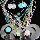 Necklace Sets Large Metal Disk W Shells/DZ ** New Arrival** 6Color Asst
