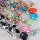 Necklace Sets Lucite W Pearls & Chains/DZ ** New Arrival** 6 Color Asst