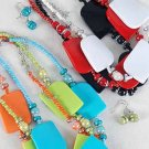 Necklace Sets Lucite With Blocks/DZ 7 Color Mix
