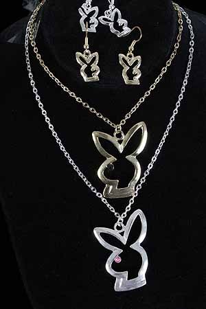 Necklace Sets Rabbit Cast/DZ ** New Arrival** Choose Gold or Silver Finish