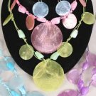 Necklace Sets With Paper Shells/DZ 6 Color Asst