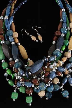Necklace Sets Wood Color Asst 24''/DZ **NEW** 24'' Long Color Asst