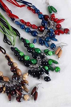 Necklace Sets Wood Color Asst/DZ **NEW** Color Asst