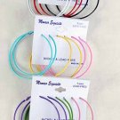 "Earrings 3per Large Color Hoops 2.5""x2.5"" Color Asst/DZ 2.5""x2.5""Color Mix"