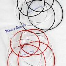 Earrings 3per Large Color Hoops 7 8 9cm Mix Size/DZ Color Hoop W Silver Loop Mix