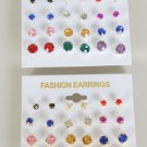 Earrings 12 Per Color Studs Multi/DZ Choose Colors Gold Multi; Silver Multi