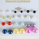 Earrings 12per ABS Pearl Multi Color Asst/DZ **NEW** ABS pearl Multi Color Asst