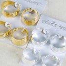 Earrings 2Per Large Metal Hoops/DZ ** New Arrival** Choose Gold or Silver