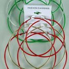 Earrings 3 Per Jumbo Hoops Color Mix/DZ ** New Arrival** 6 Color Asst