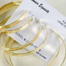 Earrings 3pc Gold Hoops Size Asst/DZ/dz Gold