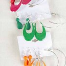 Earrings 3per Shape Teardrop Epoxy Mix 7 Color Asst/DZ 7Color Asst - E2989