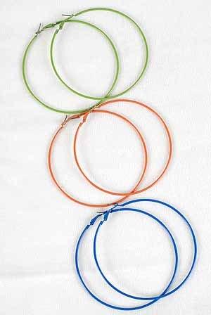 Earrings 8cm Color Hoop,Color Asst/DZ 8Color Asst