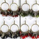 Earrings Antique Circle With Crystal Drops/DZ **New Arrival** 6 Color Asst,Victorian Look