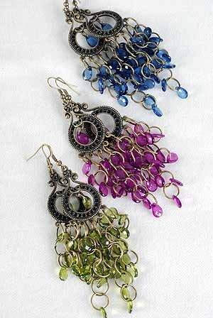 Earrings Chandlair Victoria Look 3'' long/DZ 6 Color asst