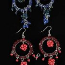 Earrings Circle Beads W Dangos/DZ ** New Arrival** Color Asst