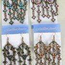 Earrings Color Stone Victorian Look/DZ **NEW** Post, Color assr - 50dz/cs