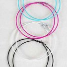 Earrings Jumbo Color Hoop 9cm 8Color Asst/DZ babyblue white red black lblue Lime orange