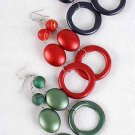 Earrings Large Circle Matte Dangle,Color Asst/DZ **NEW** 6 Color Asst