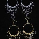 Earrings Large Circle W Dialmoncut Mini Circles/DZ ** New Arrival**
