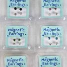 Earrings Magnet 2 per Rhinestone,Asst Colors/DZ **New Arrival** Color Asst -