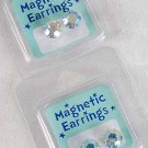 Earrings Magnetic Studs ABclear/DZ Choose Sizes-9mm or 10mm