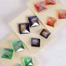 Earrings Poly 2per SQ Shape Post Color Asst/DZ **Post** 6 Color Asst