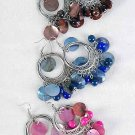 Earrings Shell With Beads, Victorian Look/DZ** 6 Color Asst