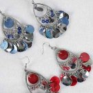 Earrings Teardrop With Shells Silver Finish/DZ **NEW Arrival** 6 Color Asst