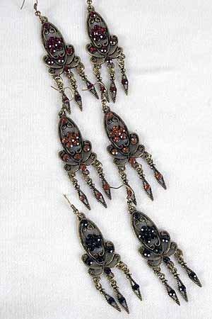 Earrings Victorian Collection Color Asst/Dz **NEW** 6 Color asst