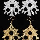 Earrings X'mas Tree Filigree Look/DZ **NEW** Choose Gold Or Silver
