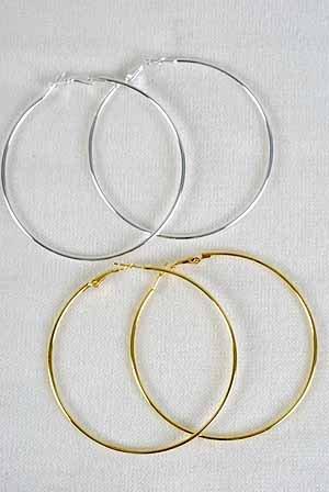 TOP SELLER-Earrings 7Cm Hoop Gold or Silver/DZ 7cm Hoop,Choose Gold or Silver finish