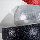 "Bracelet Bangle With Glitters/DZ Size 1.5""x3"",Black Red White Silver 4 Color mix"