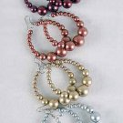"Earrings Circle W Metallic Balls/DZ Size 2""x2"" 6 Color Asst"