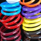 "3Pcs Bangles Acrylic 3"" Dia Wide/DZ Choose Colors  Brown tone or bright muti"