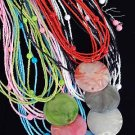 Necklace Sets Lucite circle Disk With Beads/DZ 6 Color Asst