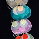 """Earrings Paper Shell With Silver Disk 2'' x2""""/DZ 6 Color Asst"""