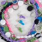 Necklace Sets acrylic With Circle Disks/DZ 6 Color Asst